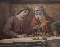 detail from The Last Supper by Domenico Ghirlandaio, Cenacolo di Ognissanti, Florence, Italy.