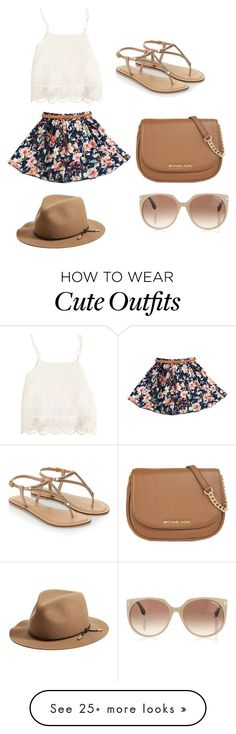 """Cute Floral Summer Outfit"" by sophia-marie-beauty on Polyvore featuring Swell…"