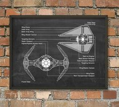 Hey, I found this really awesome Etsy listing at https://www.etsy.com/listing/187591660/tie-fighter-star-wars-patent-wall-art