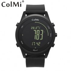 262f6cc8f7 ColMi Smart Watch Beyond Ultra Slim Round Leather IP68 5ATM Waterproof  Compass Altimeter Barometer Clock for