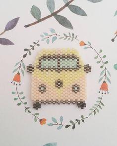 « En voiture Simone ! Ça sent les vacances qui approchent avec le combi de @etoiles_pistache pour les couleurs, j'ai utilisé du pêche, mint et jaune clair.… »