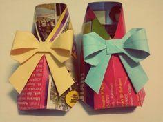 kusudamaAddicts: origami baby shoes (Tomoko Fuse)