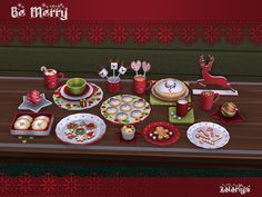 Be Merry Decorative Christmas set by soloriya at TSR • Sims 4 Updates