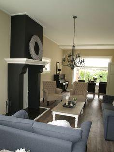VRI interieur open haard in landelijke stijl. Hiermee wordt het gezellig warm komende winter.