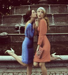 Blair and Serena.  Just think, this could be us having a friend photoshoot.  Or a shoot with us two couples!