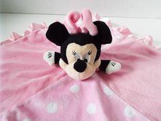 Minnie Mouse Lovey Pink Polka Dot Security Blanket Plush Baby Toy Disney  #KidsPreferred