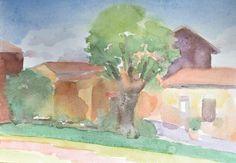 Anthony Lombardi San Lorenzo Nuovo watercolour on paper 2016 26 x18 cm.
