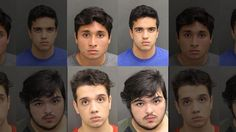 07-20-2017  Miguel Baez Arriechi, Enrique Lopez Cosson, Manuel Zavarse and Gabriel Zavarse Cedeno have been accused of taking turns raping a woman in Orange County, Florida in May.