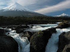 The magical Petrohué Falls with Osorno Volcano soaring behind. Month long journey thru Chile Argentina and Brazil was a unforgettable experience. Great Places, Places To Go, Chili, Reserva Natural, Great Vacations, What A Wonderful World, Vacation Spots, Wonders Of The World, South America