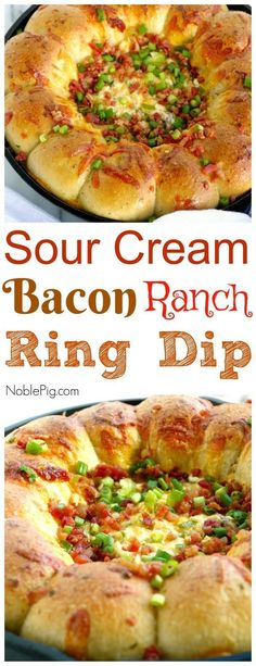 If you are looking for that perfectly addictive appetizer, this Sour Cream Bacon Ranch Ring Dip is going to have you enjoying every last bite. Fun Easy Recipes, Easy Appetizer Recipes, Appetizer Dips, Popular Recipes, Dip Recipes, Recipies, Bacon Recipes, Delicious Recipes, Keto Recipes
