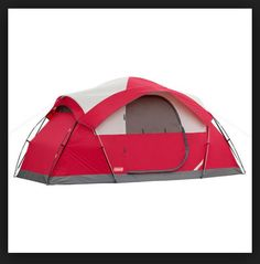 Coleman 8 Person Dome Tent Camping Outdoor Hiking Waterpoof Instant Family Room #Coleman