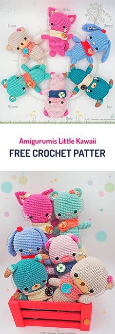 Amigurumis Little Kawaii Free Crochet Pattern #crochet #crocheted #amigirumi