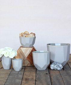 Quartz Faceted Ceramic - Grey