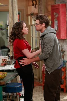 Heating Up Things heat up between Max (Kat Dennings, left) and Johnny (Nick Zano, right) on 2 BROKE GIRLS. Photo: Monty Brinton/CBS ©2011 CBS Broadcasting Inc. All Rights Reserved.