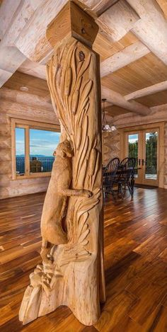 Mountain Top Manor – $5,765,900  Carved Beam