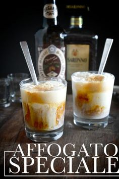 This boozy affogato — coffee, liquor, and ice cream — is the best thing that ever happened to cocktail hour. Get the recipe from Shutterbean. Coffee Cocktails, Fun Drinks, Yummy Drinks, Cocktail Recipes, Alcoholic Drinks, Beverages, Drink Recipes, Refreshing Drinks, Gastronomia