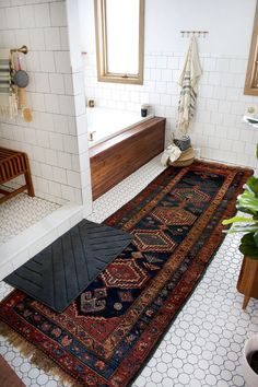 Boho modern bathroom