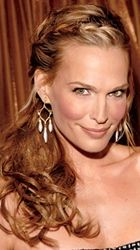 molly sims top braided ponytail with wavy hair