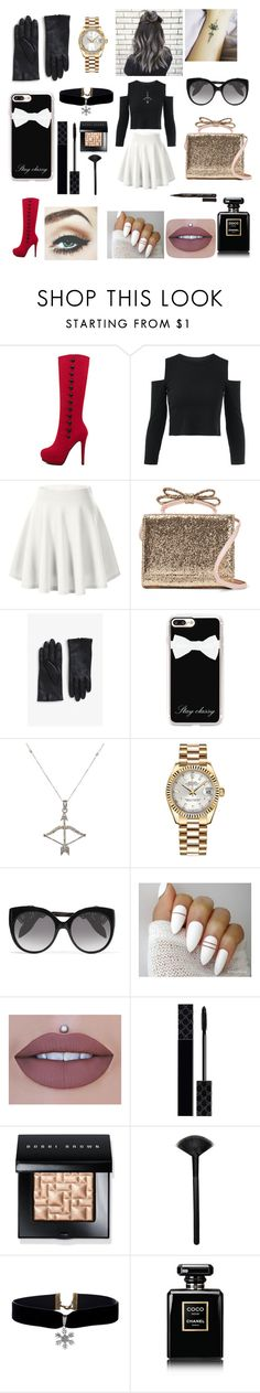 """""""Pure seduction ❤️"""" by malooka79 ❤ liked on Polyvore featuring RED Valentino, Monki, Casetify, Feathered Soul, Rolex, Alexander McQueen, Gucci, Bobbi Brown Cosmetics, Morphe and Chanel"""