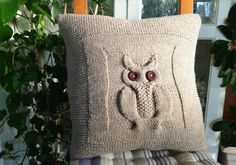 This cushion is made from acrylic , entierly hand-knit and made at home, it is an Irish pattern. Shown in creamy. Any other colors can be made to order; please allow 5 bussiness days for this item to be made and prepared for shipping. All items are created in my home in France.