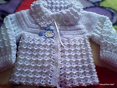Crochet Baby Jacket, Knit Baby Sweaters, Sweater Set, Crochet Clothes, Baby Knitting, Girl Outfits, Fashion, Crochet Baby Dresses, Crochet Baby Clothes