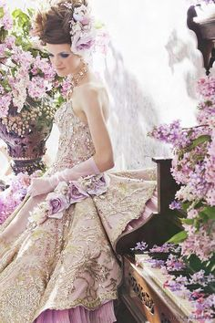 Wedding dress Stella de Libero Wedding Dresses The Lilac Bridal Collection cute wedding dress possibly the best wedding pic ever - just bea. Lilac Dress, Gold Dress, Bridal Collection, Dress Collection, Bridal Gowns, Wedding Gowns, Gold Wedding, Beauty And Fashion, Fairytale Dress