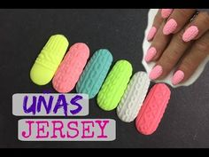 Uñas Jersey SUPER FÁCIL - YouTube