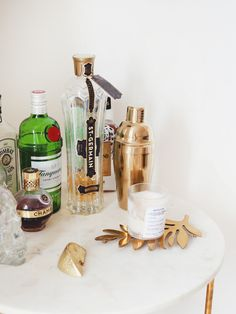 Five Good Things. Gin, Rolling Bar Cart, Baby Succulents, Copper Moscow Mule Mugs, Bar Cart Styling, Holiday Looks, Dream Rooms, Things To Come, Canning