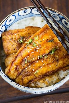 Then you must try this catfish kabayaki recipe, sweet and delicate tare sauce on top of tender juicy catfish and garnished with sesame seeds. Fish Dishes, Seafood Dishes, Fish And Seafood, Seafood Recipes, Cooking Recipes, Easy Japanese Recipes, Japanese Dishes, Asian Recipes, Japanese Food