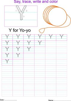 6 Letter Y Writing Practice Worksheet English capital letter Y worksheet √ Letter Y Writing Practice Worksheet . 6 Letter Y Writing Practice Worksheet . Free Printable Tracing Letter Y Worksheets for Preschool in Letter Y Worksheets, Capital Letters Worksheet, Writing Practice Worksheets, English Worksheets For Kids, Kids Math Worksheets, Preschool Letters, Learning Letters, Preschool Printables, Learning Activities