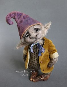 Tapio Fairy by Zhanna Rassi Needle Felted Animals, Felt Animals, Wet Felting, Needle Felting, Ooak Dolls, Art Dolls, Dragons, 3d Figures, Felting Tutorials