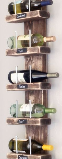 Reclaimed Wood Wine Rack / Industrial Style