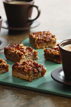 Cinnamon brings warm, seasonal flavors to this twist on the classic Thanksgiving dessert: Pecan Pie Bars. Perfect for a holiday meal or gift exchange.