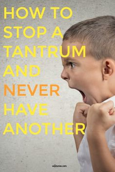 Stop tantrums and bring peace to your children and marriage.