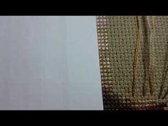 Como rematar hilos punto de cruz - YouTube