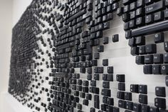 Keyboard keys wall art by Marcin Malewski