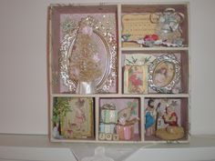 Shadow box is actually a drawer organizer that I re-purposed into a Christmas shadow box for myself.