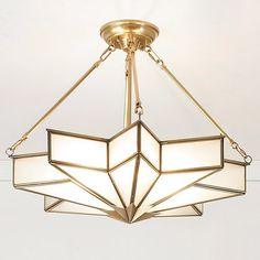 Frosted Glass Star Chandelier