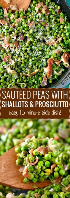 Sautéed Peas with Shallots and Prosciutto