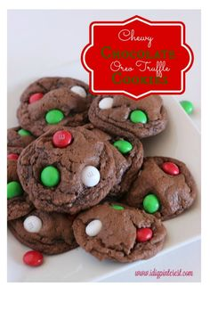 Chewy Chocolate Oreo Truffle Cookies: Christmas Cookie Exchange - Made to be a Momma.