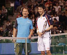 Kei Nishikori and Michael Chang in Japan 2011