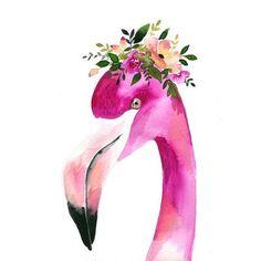 Floral Flamingo Watercolor Paint Kit - Let's Make Art Flamingo Craft, Flamingo Painting, Watercolour Painting, Painting & Drawing, Flamingo Decor, Watercolours, Let's Make Art, Learn Art, Love Drawings
