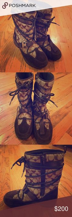 Coach winter boots size 8M Boots are in mint condition - worn once. Coach Shoes Winter & Rain Boots