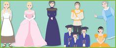 Cinderella Stick Puppets
