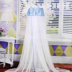 New Bowknot Lovely Baby Crib Bed Canopy Mosquito Netting With Steel Support Blue US$21.90 .. if its really that cheap I am getting it for my twins
