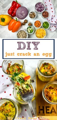 This is a Just Crack an Egg Copycat recipe–six of them, actually. Six delicious and simple egg scrambles that are great for any eating plan. These are the perfect WW, 21 Day Fix, or keto breakfast meal prep recipes. Egg Recipes, Crockpot Recipes, Veggie Egg Scramble, Homemade Turkey Sausage, Healthy Breakfast Recipes, Healthy Recipes, 21 Day Fix Meal Plan, Eating Plans, Copycat Recipes