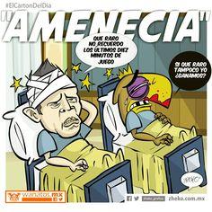"""""""AMEnecia"""" #ElCartonDelDia #zheko_grafico #DisfrutenloConLeche"""