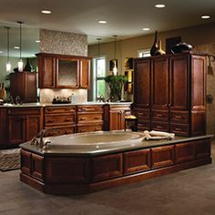 THIS is what I call a bathroom Engineered Wood Floors, Bathroom Trends, Bath Ideas, Bed & Bath, Corner Bathtub, Home And Living, Master Bath, Beautiful Homes, Tile Floor