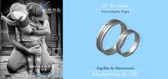 Junio... Felicidades Papa ♥♥♥  Joyería de Platino & Diamante / Argollas de Matrimonio Oro & Platino / Anillos de Compromiso Platino & Diamante / Churumbelas...  #junio #eshoradecompartir #momentos #martes #yonovia #joyería #amor #tbt #compromiso #diadelpadre #papa #argollas