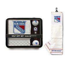 New York Rangers NHL 2 Golf Ball Divot Tool and Towel Set